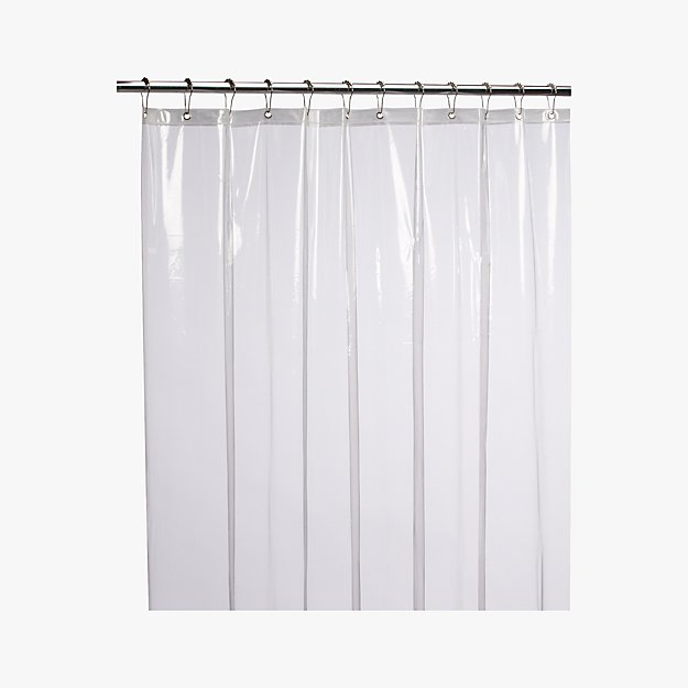 Bed Bath And Beyond Shower Curtain Liner peva clear shower curtain liner + reviews | cb2