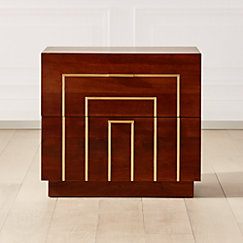 Everett Acacia with Brass Inlay Nightstand.