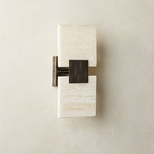 Everly Double Onyx Wall Sconce
