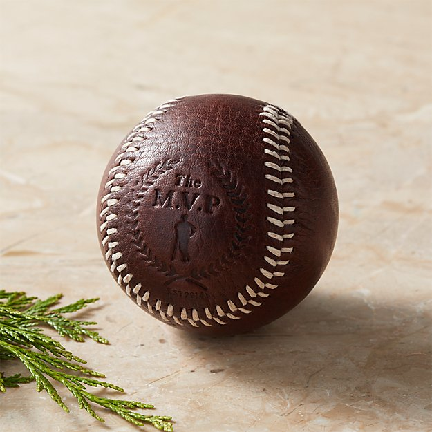 Executive Brown Leather Baseball - Image 1 of 7