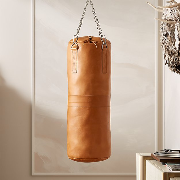 Executive Tan Leather Punching Bag - Image 1 of 6