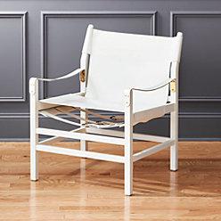 Expat Ii Leather Safari Chair Reviews Cb2