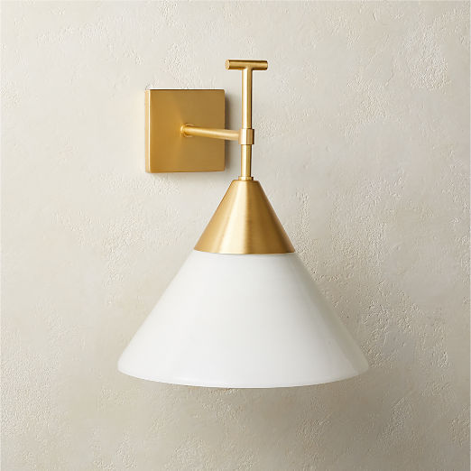 Exposior Brass Wall Sconce Model 2027