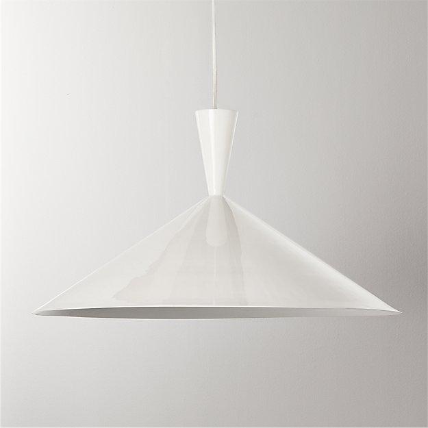 Exposior White Pendant Light Model 018 - Image 1 of 4