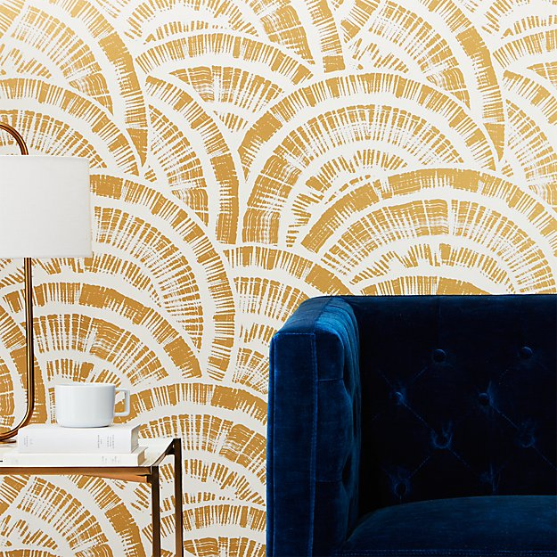 Expressionist Rounds Gold And White Wallpaper Reviews