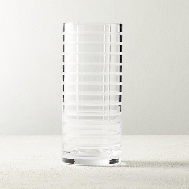 Eyvette Carved Glass Vase - Image 1 of 5