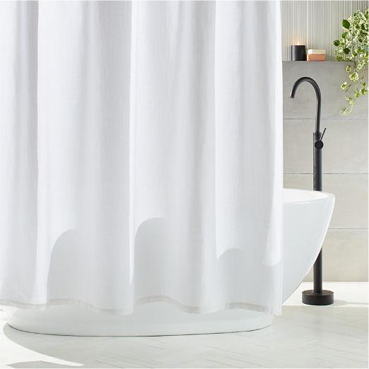 Ezra Grey and White Shower Curtain