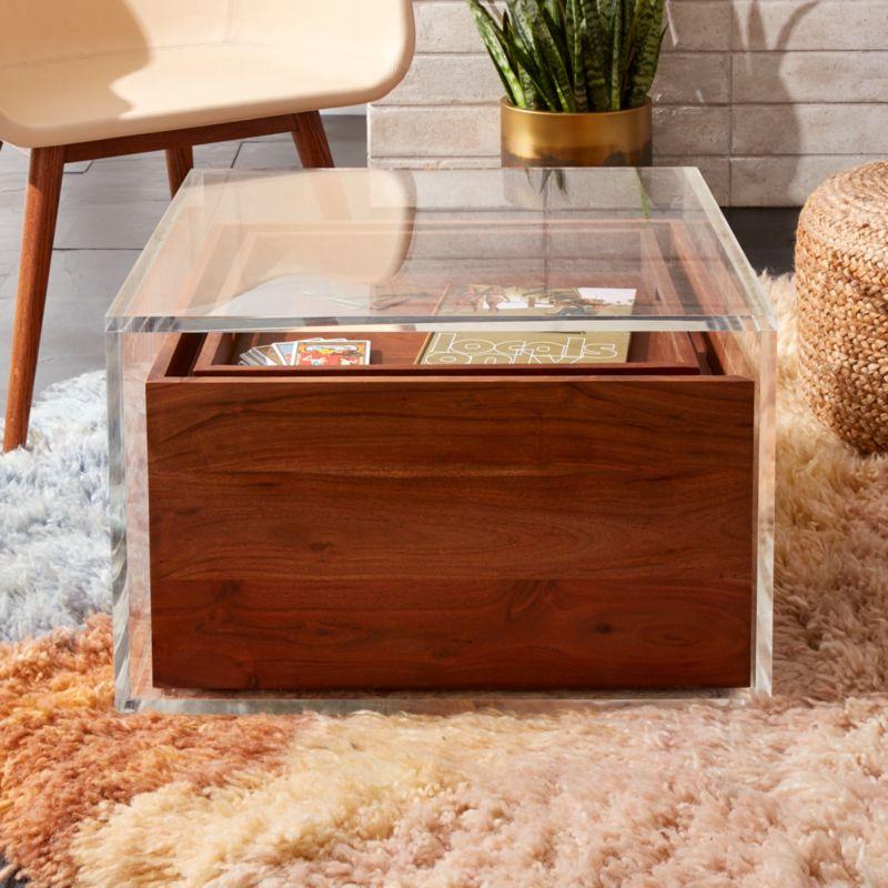 Studio Acrylic Storage Table Reviews Cb2