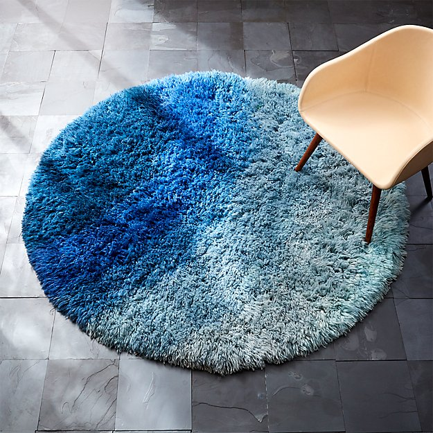Be Who We Are Blue Shag Rug Cb2