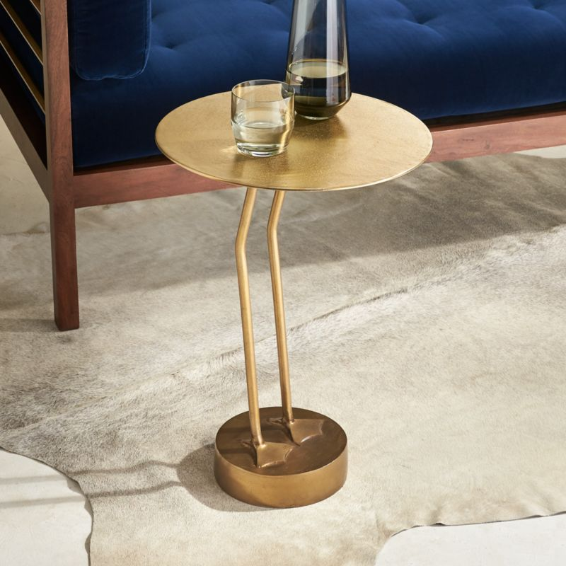 Modern outdoor side tables cb2 brass bird side table aloadofball Images