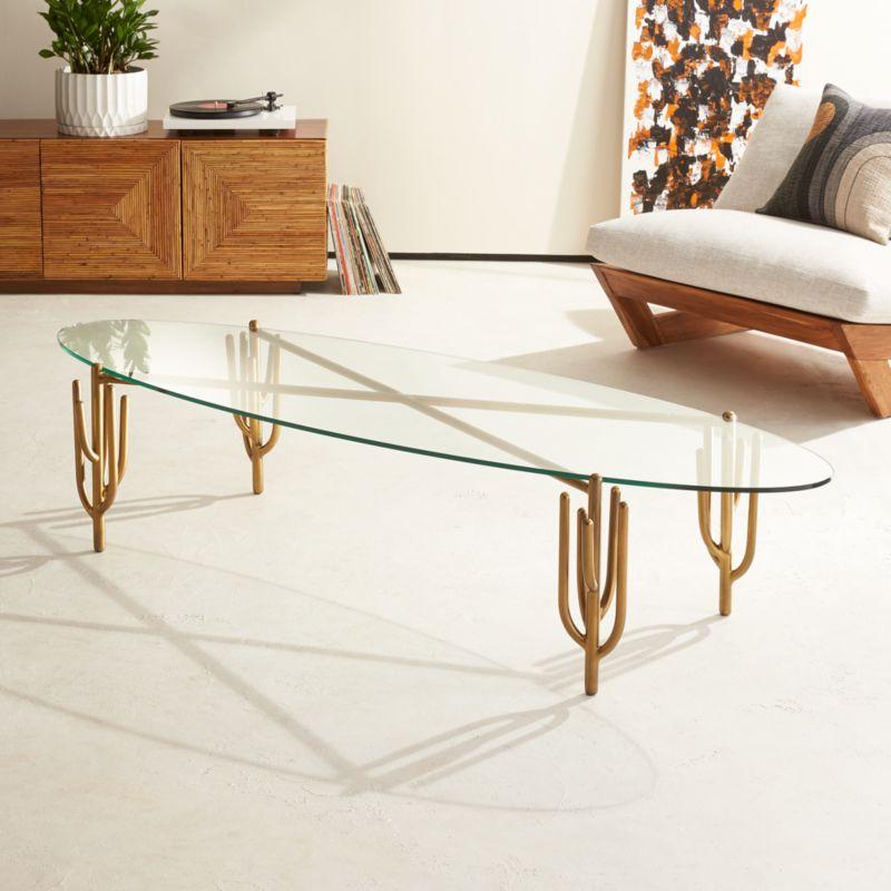Cb2 Darbuka Brass Coffee Table: Gold Furniture