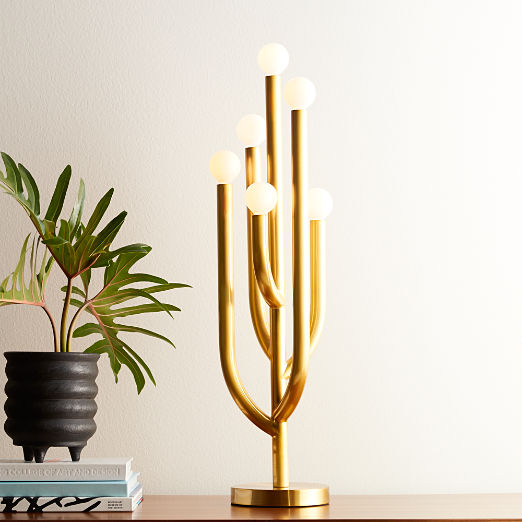 Cacti Glow Brass Table Lamp