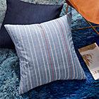 "23"" Embroidered Light Denim Pillow"