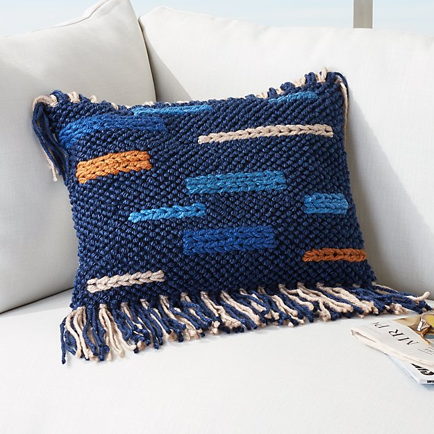 20x12 Eye Candy Outdoor Fringe Pillow Reviews Cb2