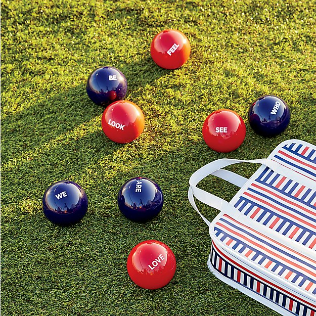 red and blue bocce ball set reviews cb2