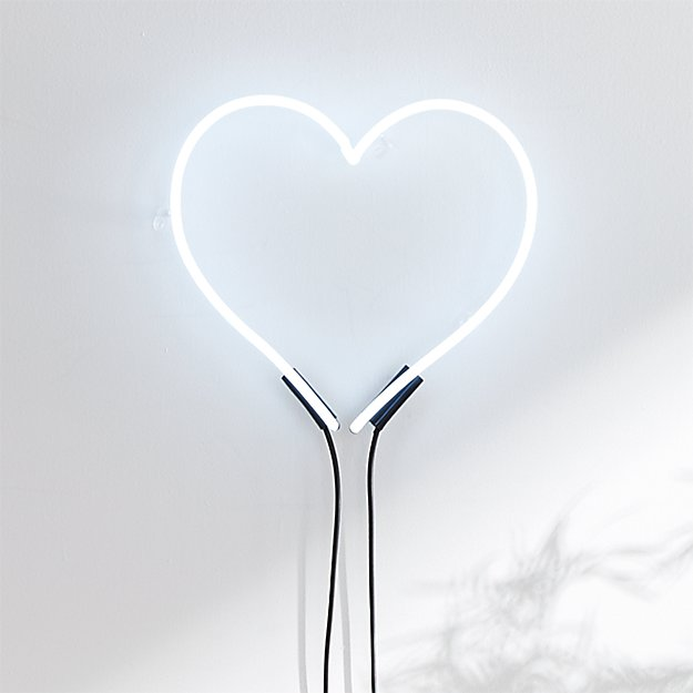 Loves White Neon Heart Light + Reviews  b8432e32320d