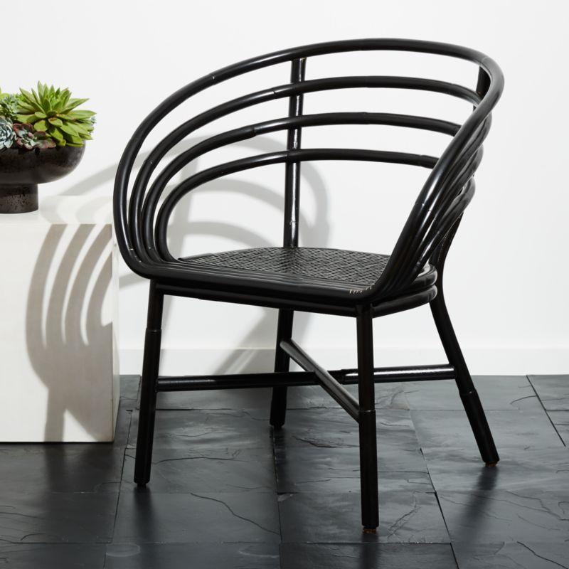 Black Rattan Chairs | CB2