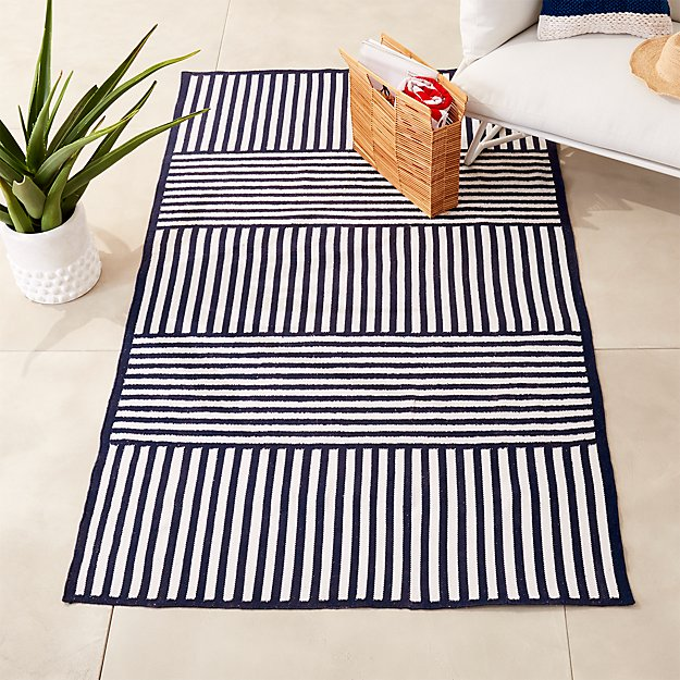 Striped Indoor-Outdoor Rug | CB2