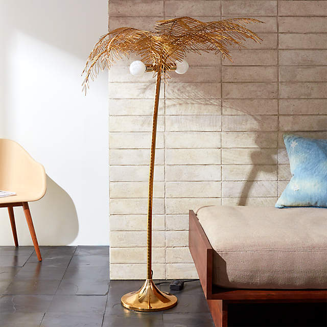 Ocean Palm Tree Floor Lamp Reviews Cb2, Palm Floor Lamp Cb2