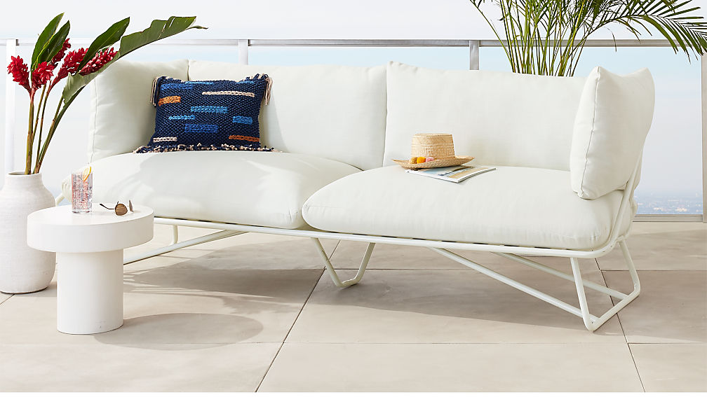 Pool Party White Outdoor Sofa Reviews Cb2