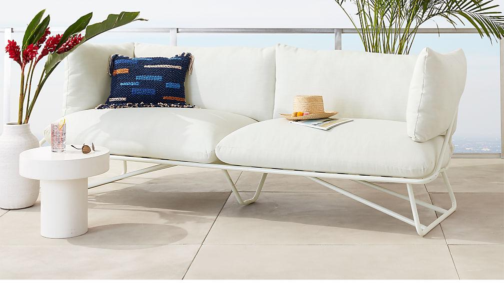 Pool Party White Sofa - Image 1 of 7