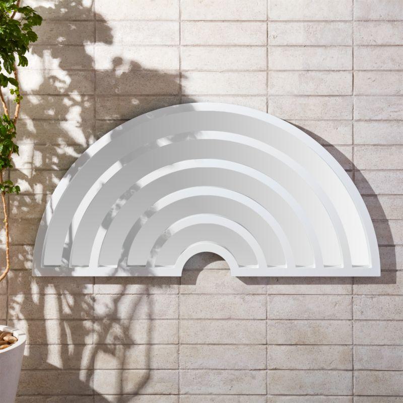 Pop Art White Wall Mirror Reviews CB2