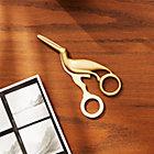 Solid Brass Studio Bird Scissors
