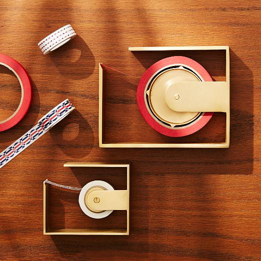 Solid Brass Studio Large Tape Dispenser