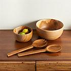 Teak Wood Bowls and Salad Servers