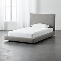 Twin Bed Mattress.Facade Grey Bed
