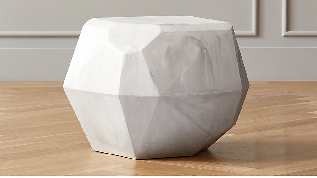 Facet Cement Side Table - Image 1 of 6
