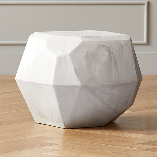Facet Cement Side Table