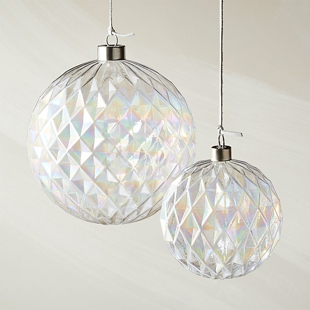 Facet Rainbow Luster Ornaments - Image 1 of 5