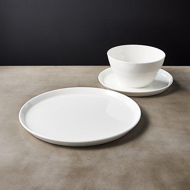 Fade White Bone China Dinnerware - Image 1 of 6