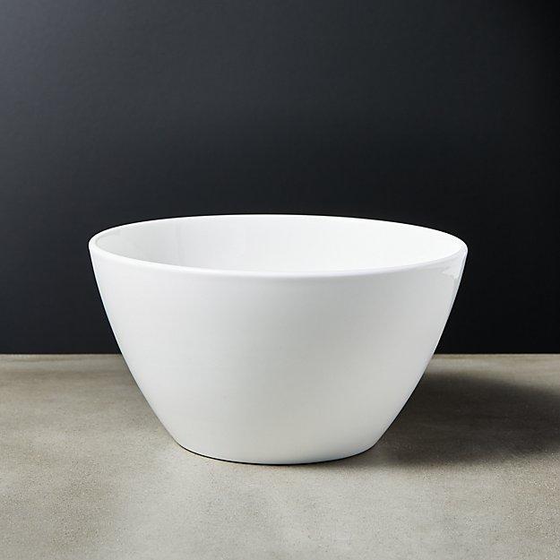 Fade White Bone China Soup Bowl - Image 1 of 7
