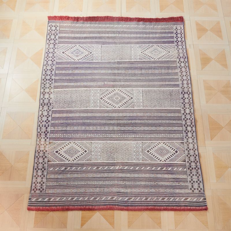 Faded Blue Kilim Rug by Crate&Barrel