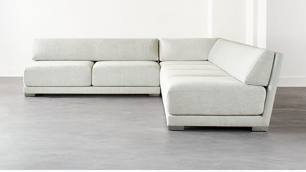 Familia Grey 3-Piece Sectional - Image 1 of 6