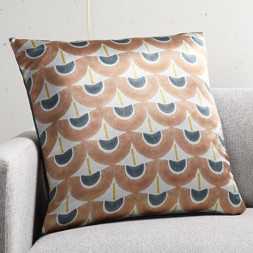 """20"""" Fan Blockprint Pillow"""