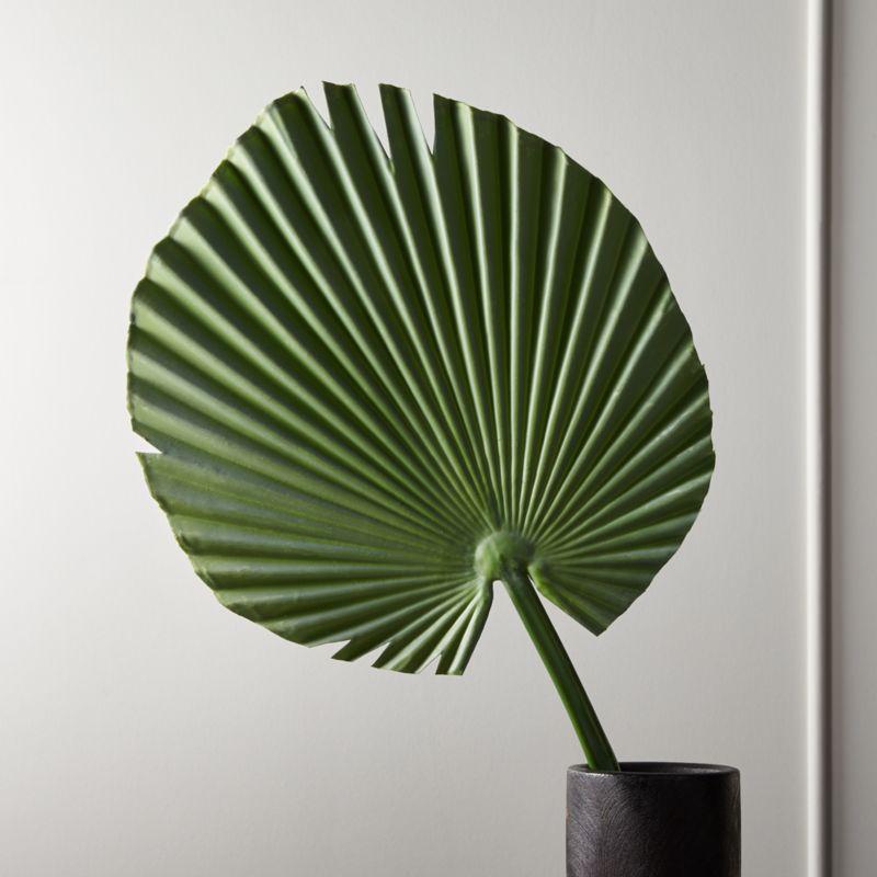 Faux Small Fan Palm Leaf 41 Quot Reviews Cb2