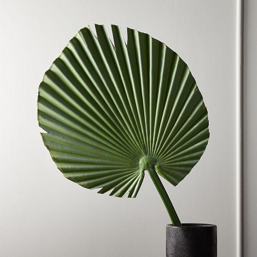 """Faux Small Fan Palm Leaf 41"""""""