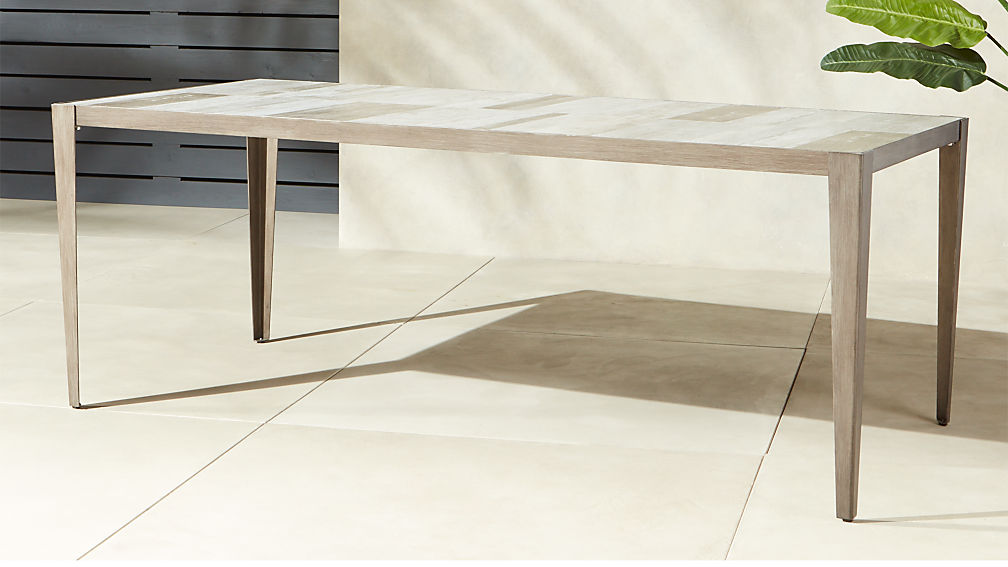 Faux Bois Dining Table - Image 1 of 6