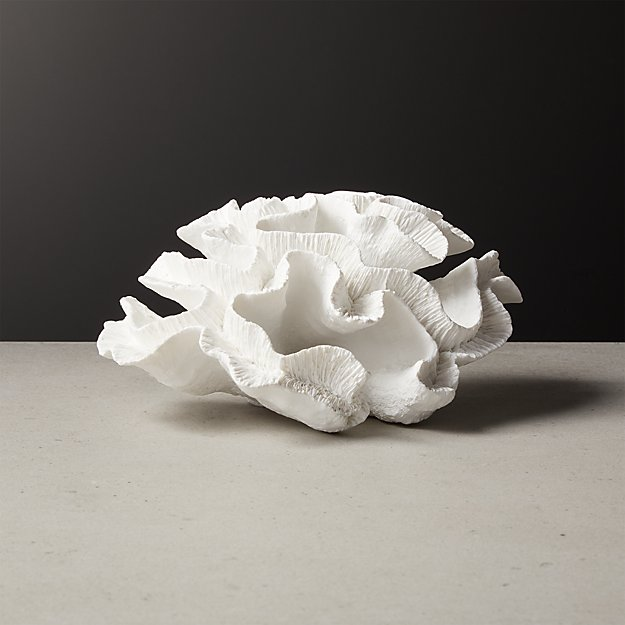 Faux White Coral Object - Image 1 of 4