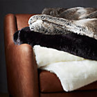 View product image Premium Grey Faux Fur Throw - image 6 of 8