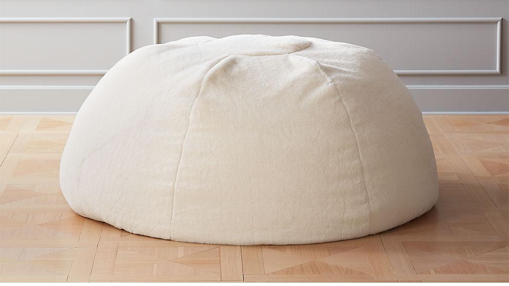 White Faux Fur Bean Bag Reviews Cb2
