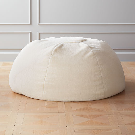 White Faux Fur Bean Bag