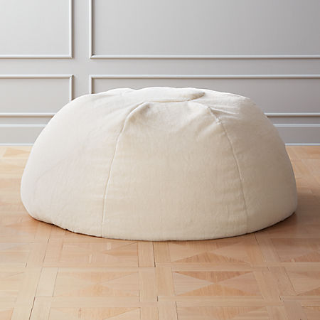 Fine White Faux Fur Bean Bag Cb2 Machost Co Dining Chair Design Ideas Machostcouk