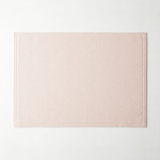 Pink Faux Leather Placemat
