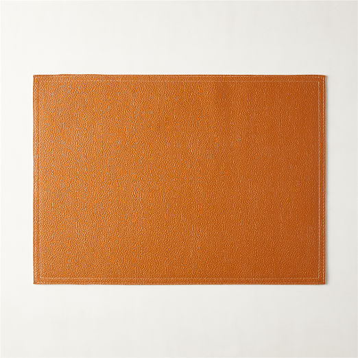 Saddle Faux Leather Placemat