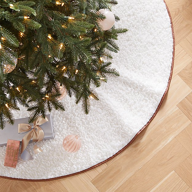 """48"""" Faux Shearling Tree Skirt - Image 1 of 3"""