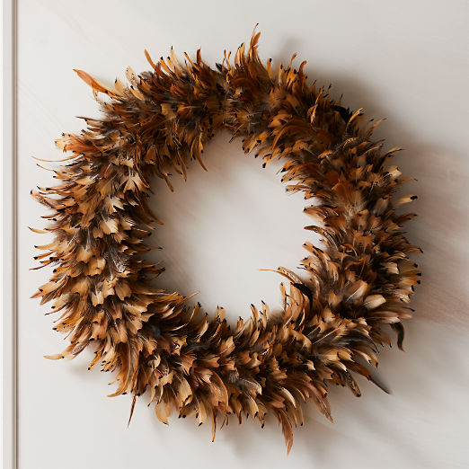 Feather Spotted Wreath 24""
